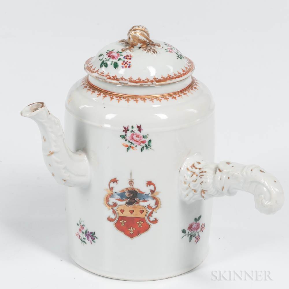 Armorial Export Porcelain Hot Water Pot