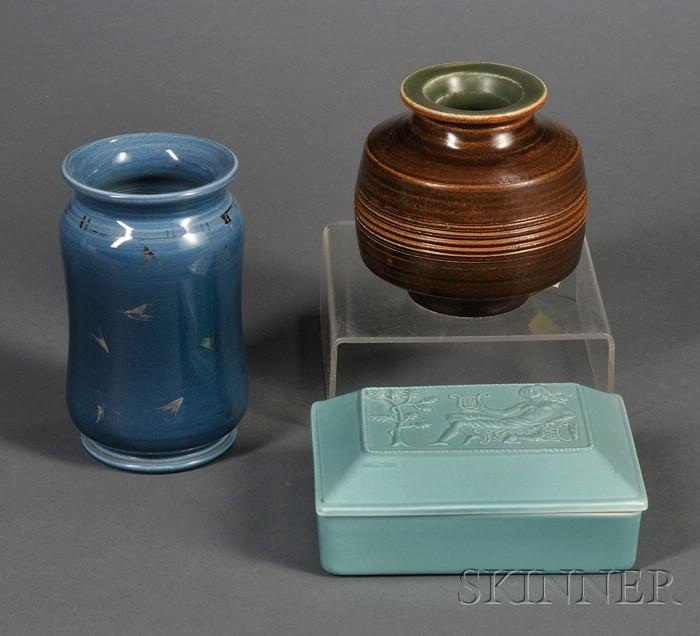 Three 20th Century Wedgwood Items