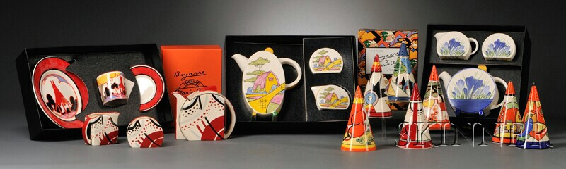 Group of Wedgwood/Clarice Cliff Bizarre Tableware