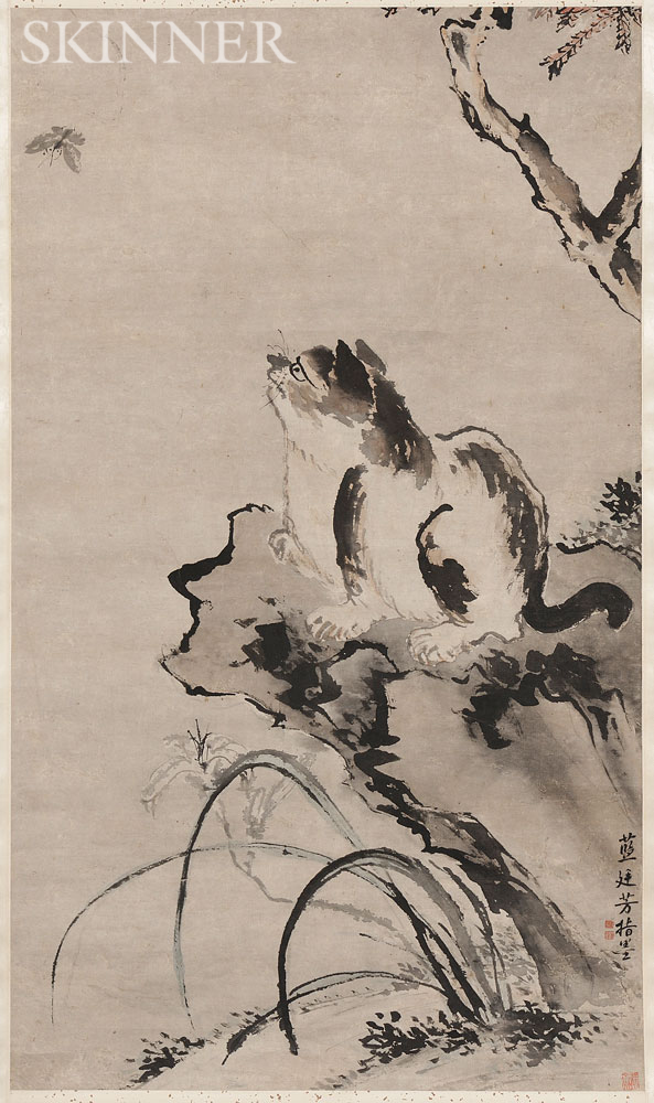 Hanging Scroll Depicting a Cat