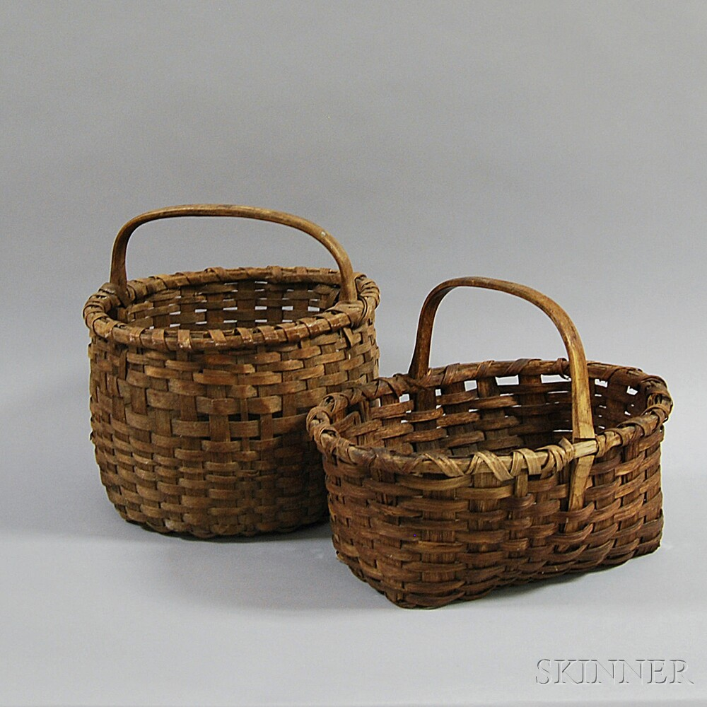 Two Woven Splint Baskets