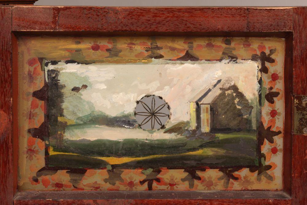 Heman Clark Mahogany Four-column Shelf Clock