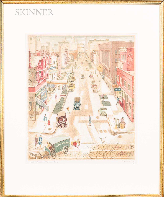 Rowena Fry (American, 1895-1990s)      Two Framed Prints: North Michigan in the Twenties