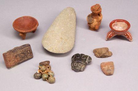 Nine Pre-Columbian Items