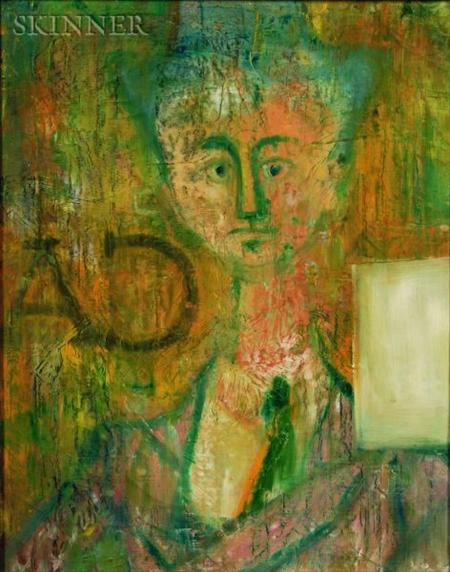 John Graham (American, 1881-1961)    Modernist Portrait