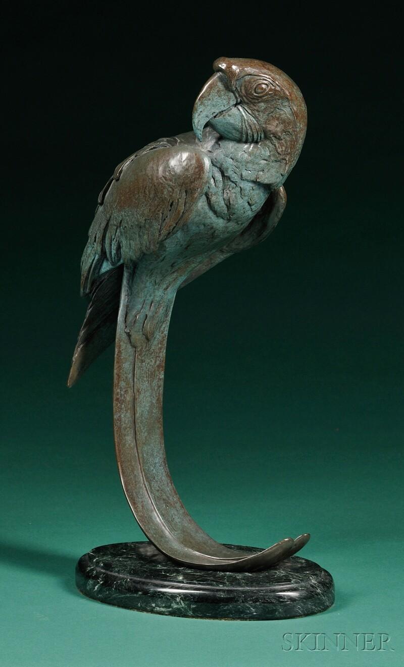 Hyatt Figural Parrot Sculpture