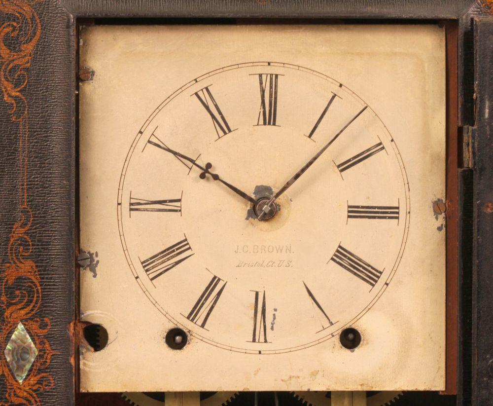 J.C. Brown Mother-of pearl Shelf Clock