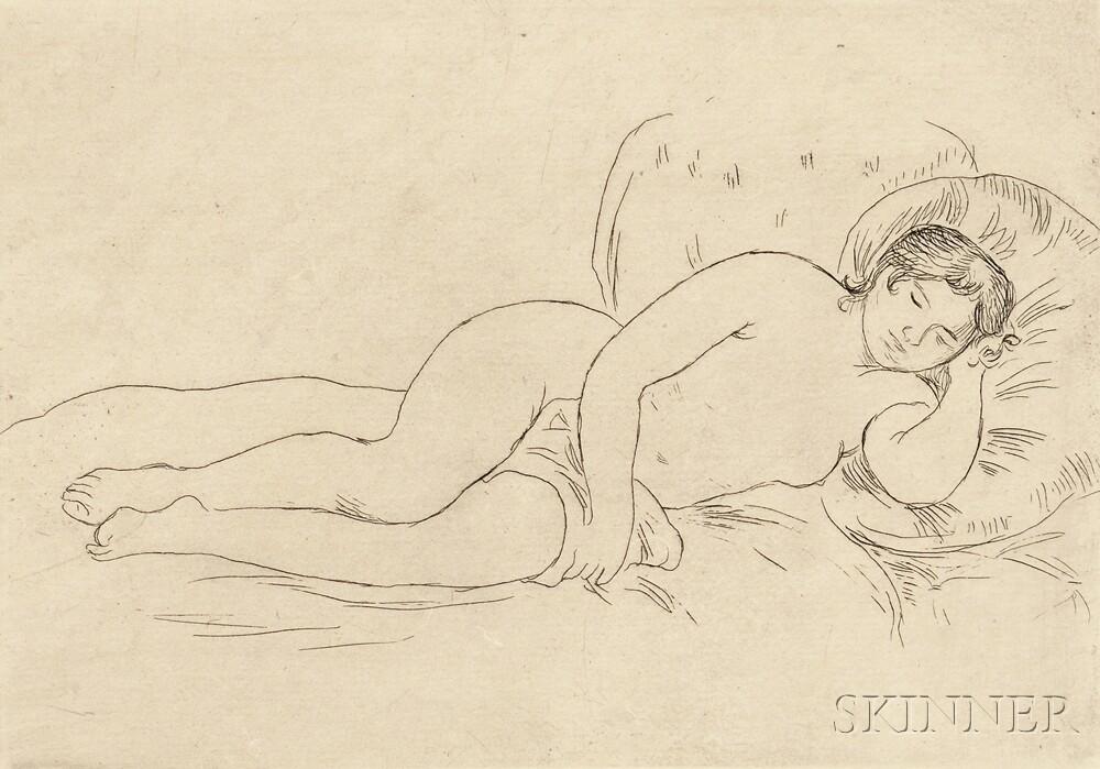 Pierre-Auguste Renoir (French, 1841-1919)      Femme nue couchée (tournée à droite) 2e planche