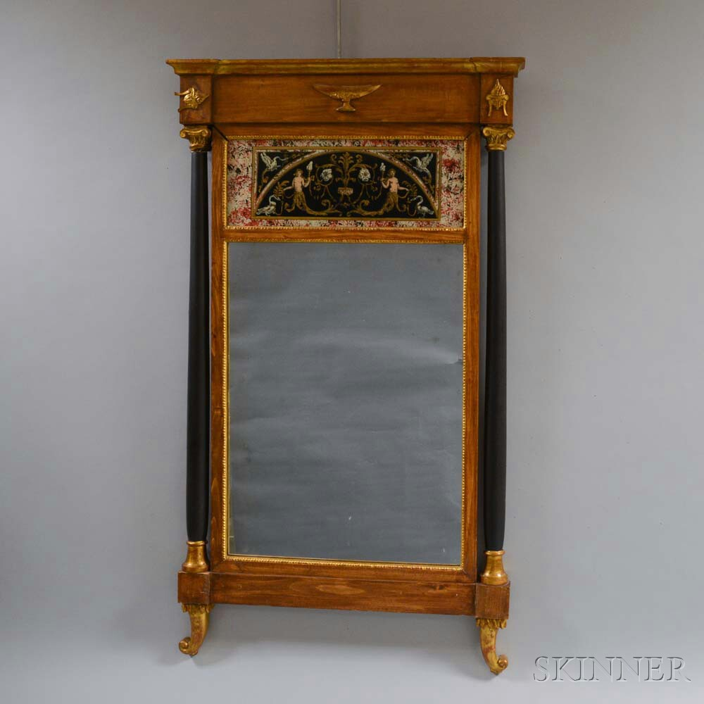 Neoclassical-style Reverse-painted Mirror