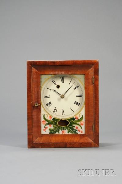 Mahogany Shelf Clock by Silas B. Terry and Company