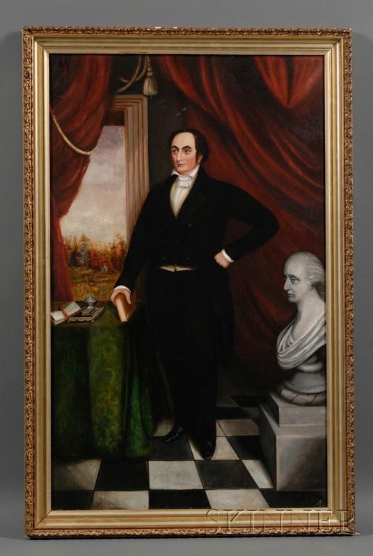 American School, 19th Century      Portrait of Daniel Webster.