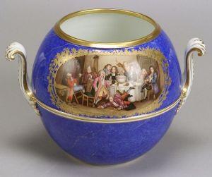 Meissen Porcelain Handpainted Punch Bowl
