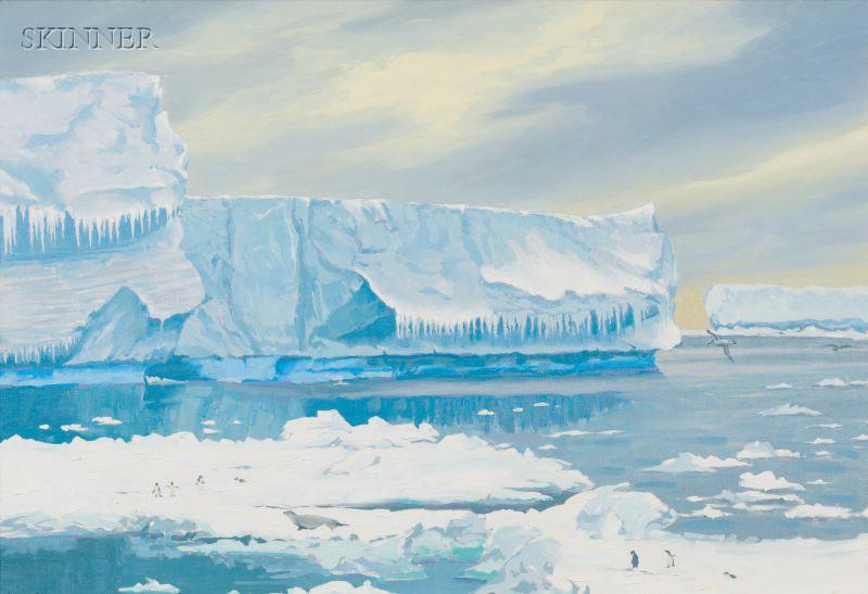Lee Winslow Court  (American, 1903-1992)      Landscape with Glaciers