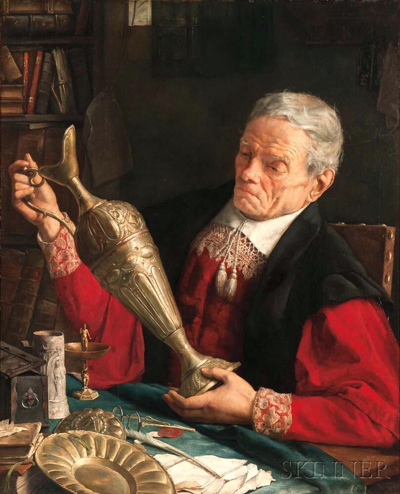 Edward Antoon Portielje (Belgian, 1861-1949)      The Connoisseur
