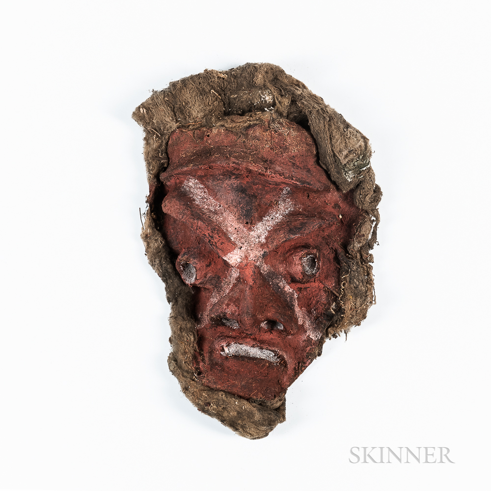 Vanuatu Painted Clay Mask
