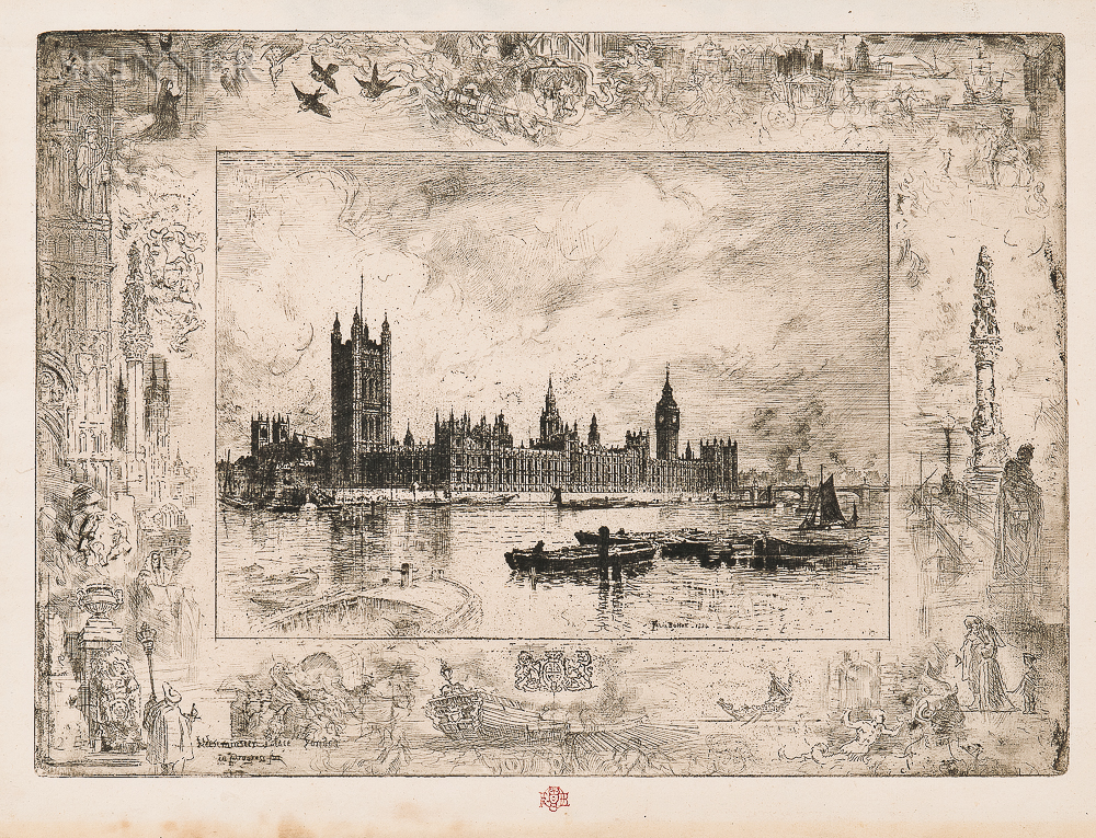 Félix Hilaire Buhot (French, 1847-1898)      Westminster Palace