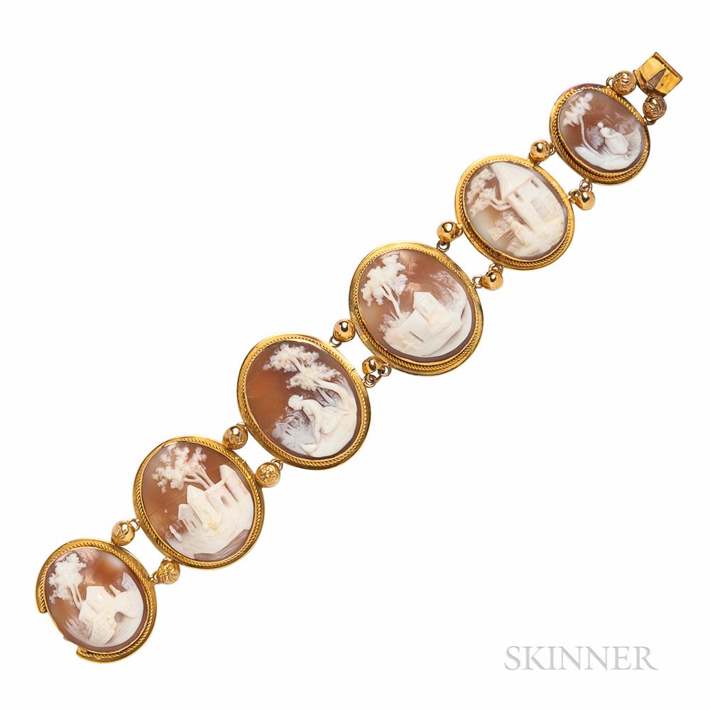 Shell Cameo Bracelet