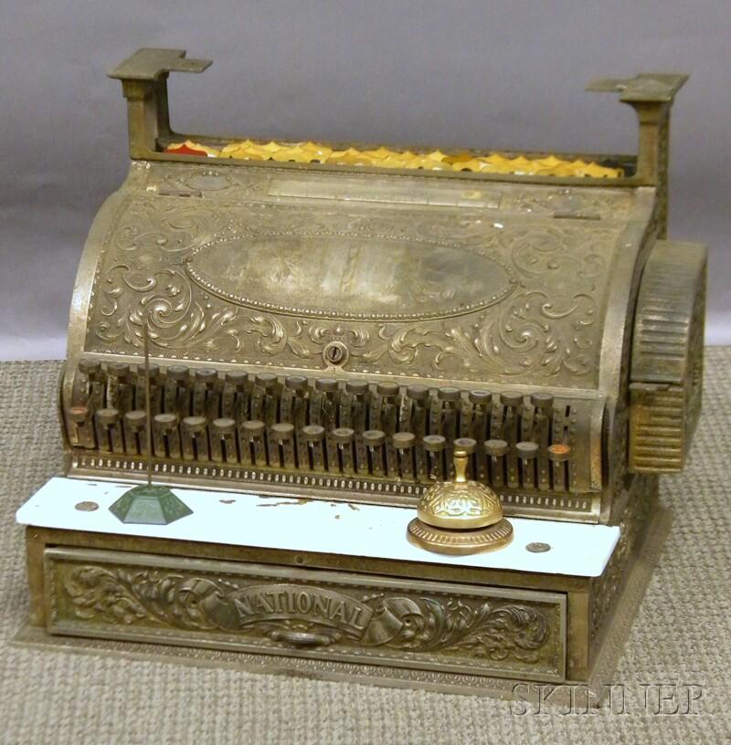 National Cash Register Co. Nickel-plated Cash Register