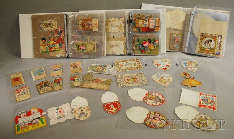 Collection of 19th and 20th Century Paper Valentines