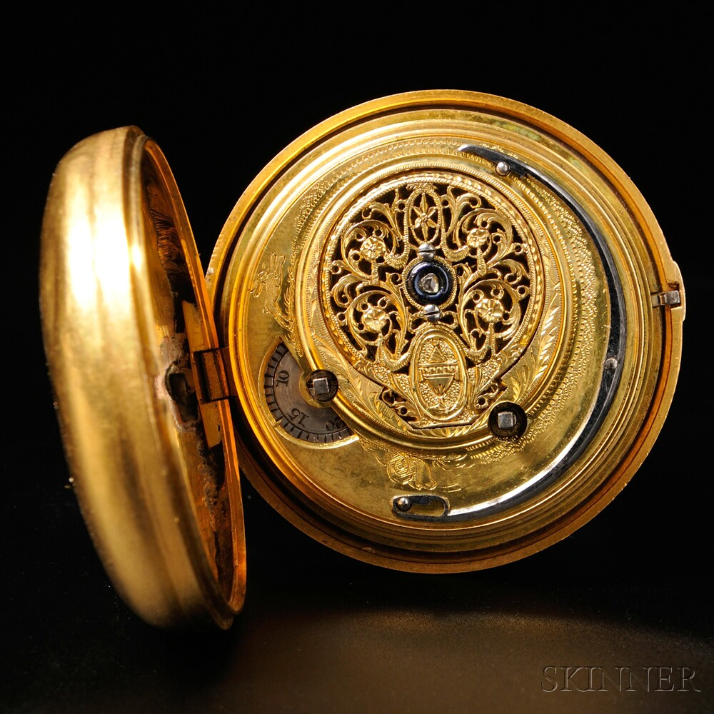 Smith Gilt-sterling Pair Case Watch