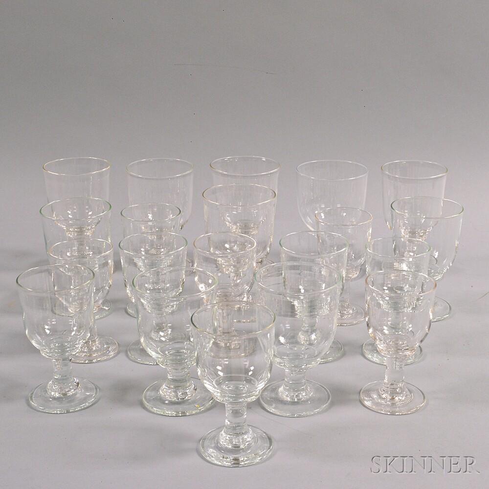 Twenty Simon Pearce Glass Goblets