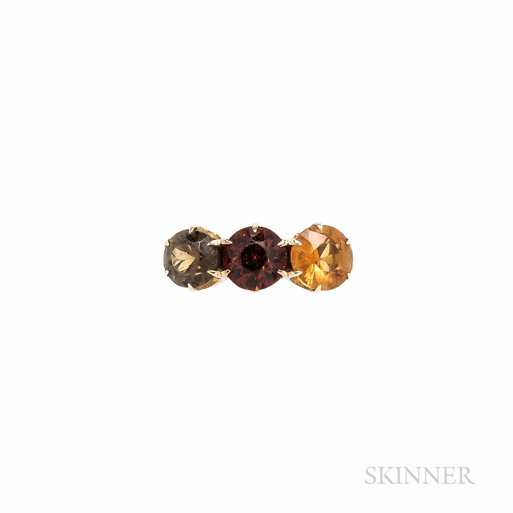 14kt Gold Gem-set Ring