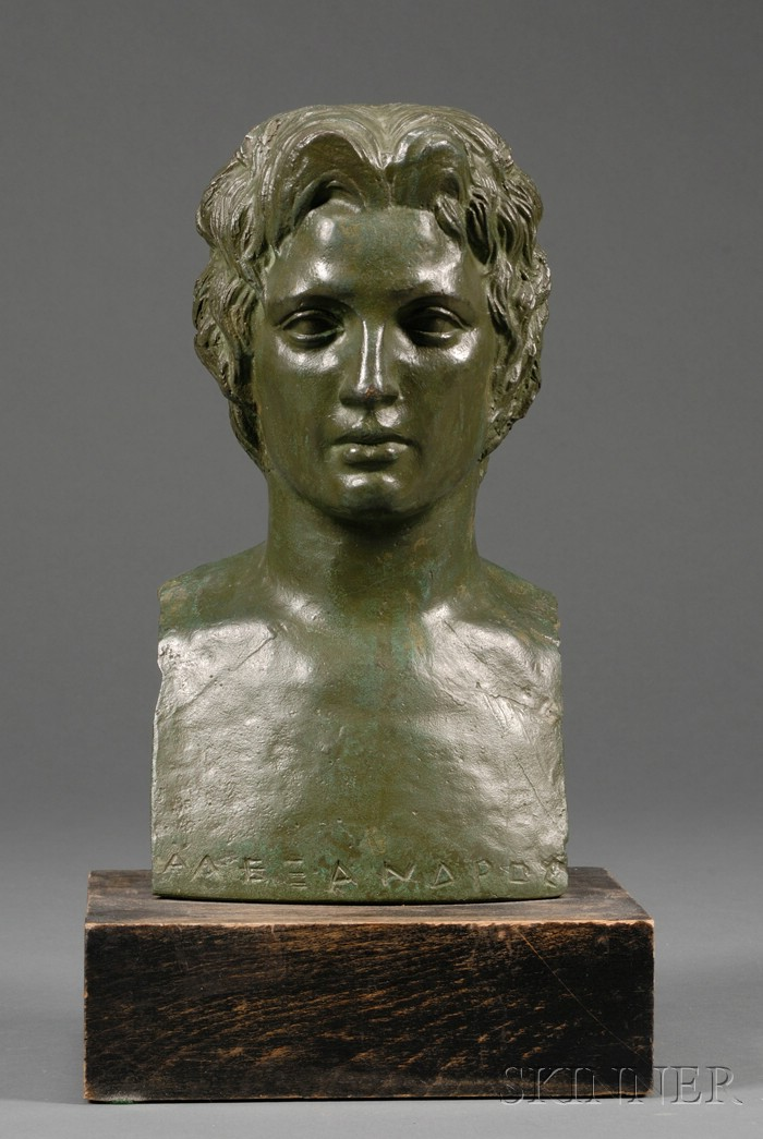 """""""Grand Tour"""" Bronze Bust of a Greek Youth"""