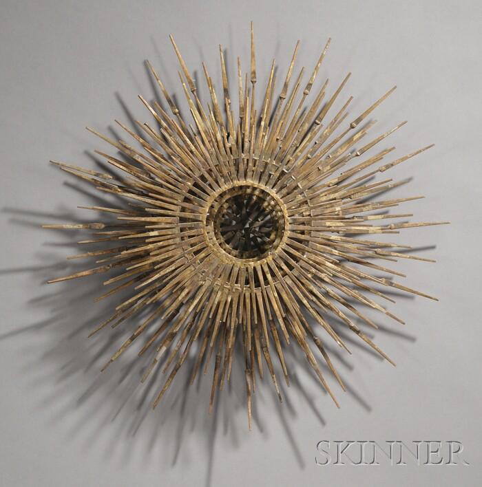 Sunburst Sculpture in the Manner of Curtis Jere