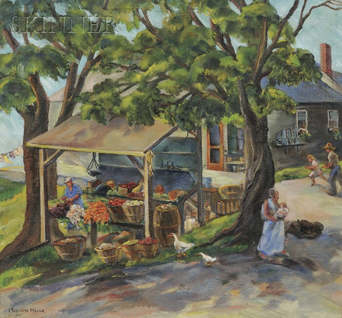 Marion Huse (American, 1896-1967)      Roadside Stand