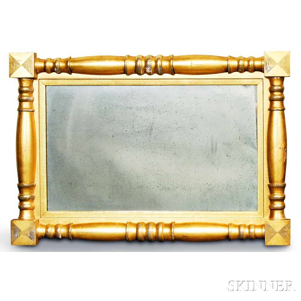 Federal Gilt Split-baluster Overmantel Mirror