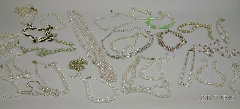 Assortment of Crystal Beaded and Other Necklaces.