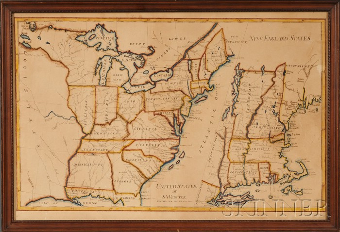Schoolboy Map of United States/New England States