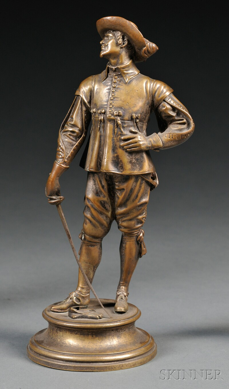 After Emile Corolian Hippo Guillemin (French, 1842-1907)       Bronze Figure of a Cavalier,