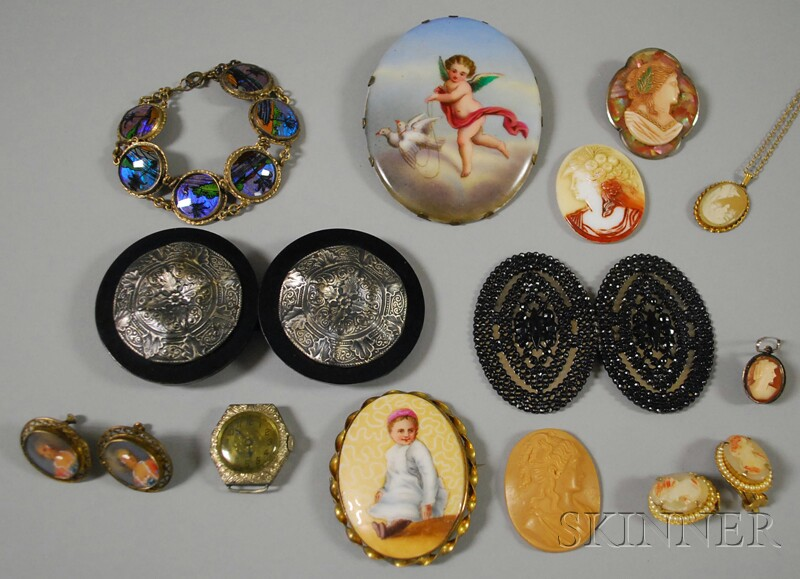Assorted Group of Vintage and Cameo Jewelry