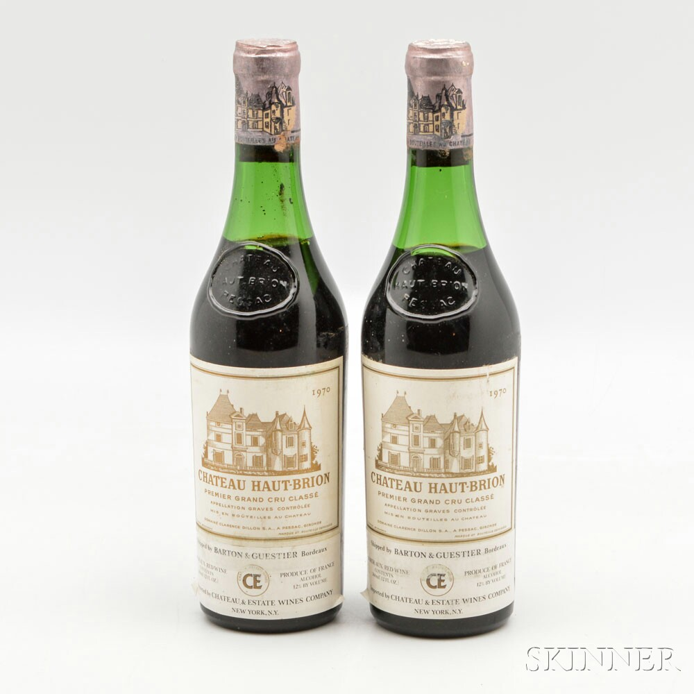 Chateau Haut Brion 1970, 2 demi bottles
