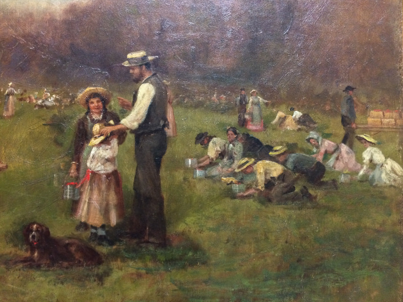 James Brade Sword (American, 1839-1915)      Cranberry Picking at Cape Cod
