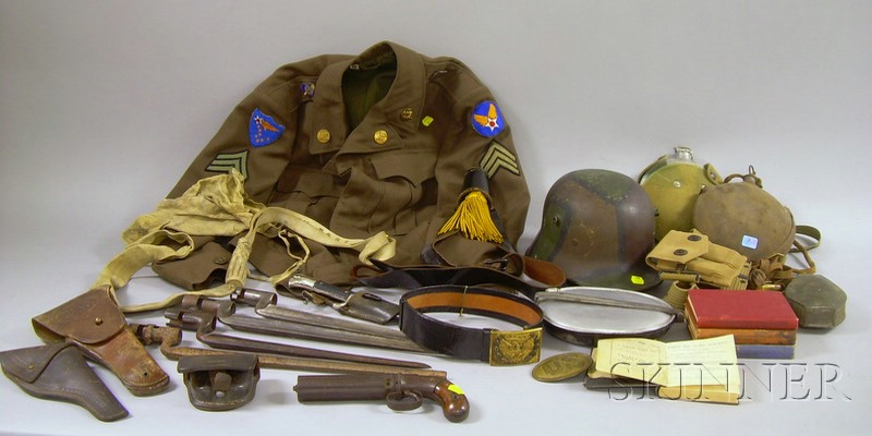 Group of 19th and 20th Century Military and Arms Related Items