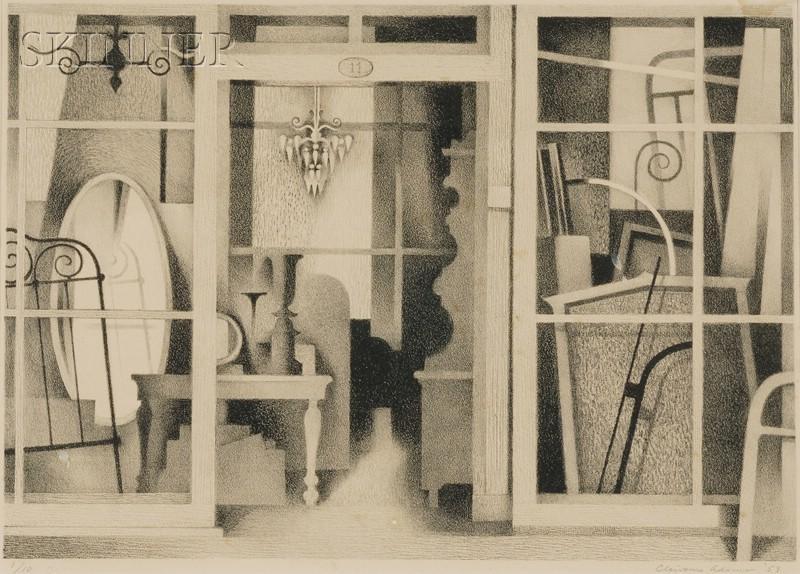 Clinton Adams (American, b. 1918)      Interior
