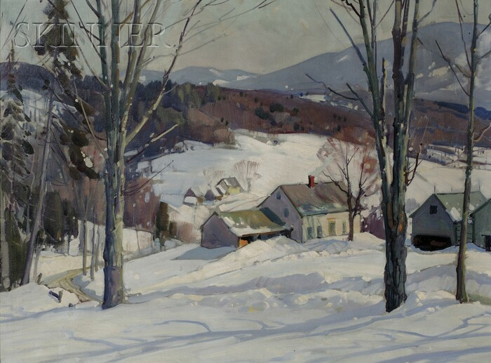 Aldro Thompson Hibbard (American, 1886-1972)      Village in the Valley, Winter