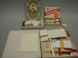Two  Boxed Writing Sets and a Box of Paper Seals