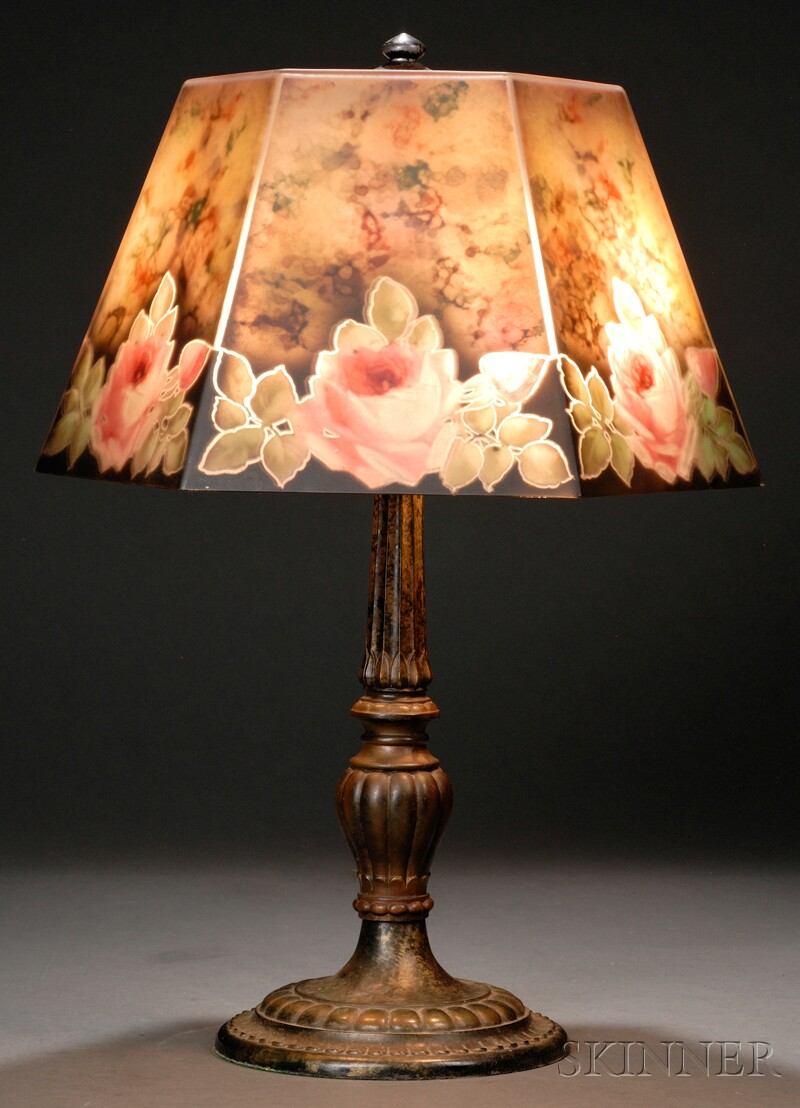 Jefferson Reverse-painted Table Lamp
