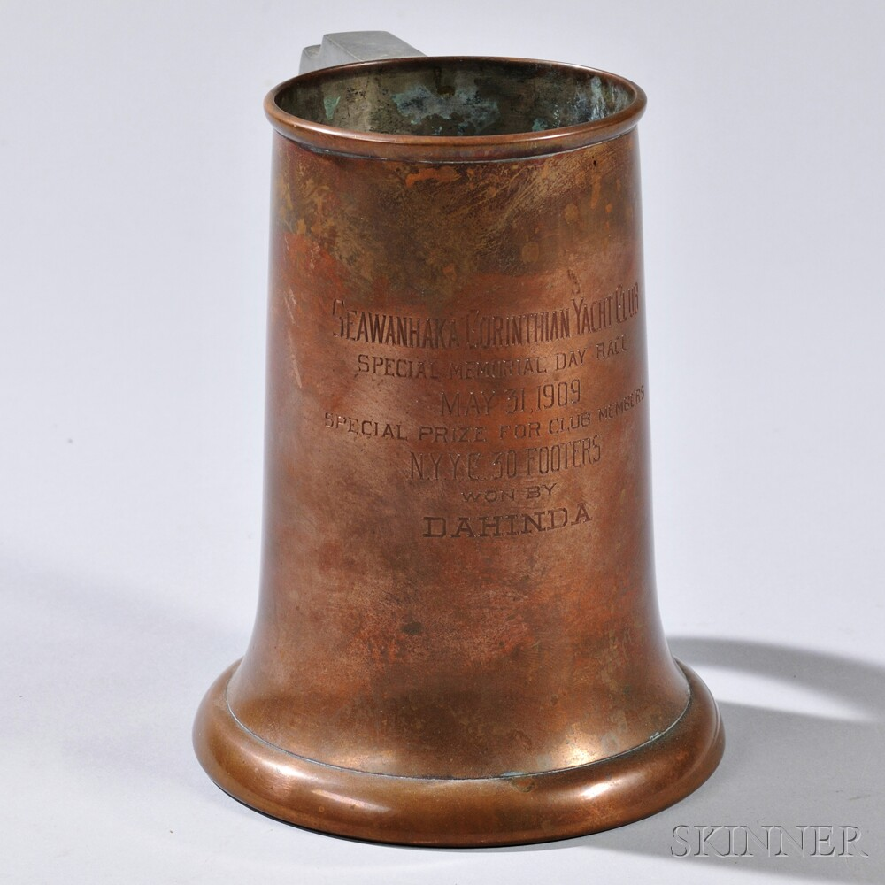 Copper Seawanhaka Corinthian Yacht Club Trophy