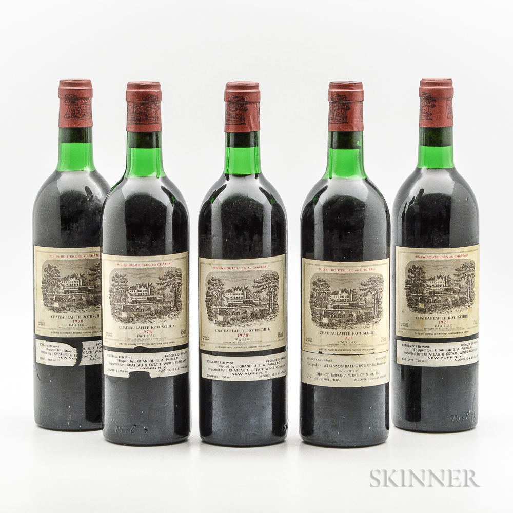 Chateau Lafite Rothschild 1978, 5 bottles