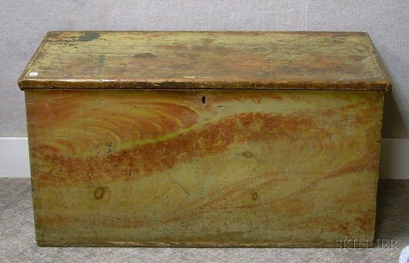 Grain-painted Dovetail-constructed Storage Box.