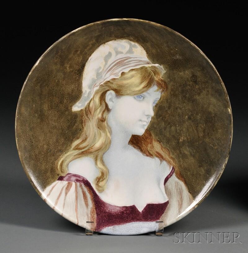 Brown, Westhead, Moore & Co. Ceramic Portrait Plate