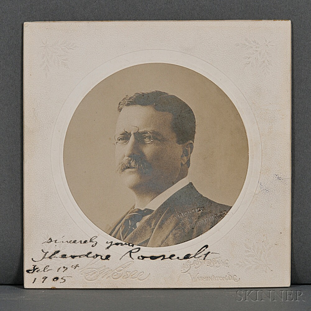 Roosevelt, Theodore (1858-1919) Signed Photograph, 17 February 1905.