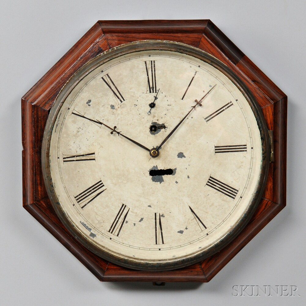 S.B. Terry Eight-day Torsion Octagon Wall Clock