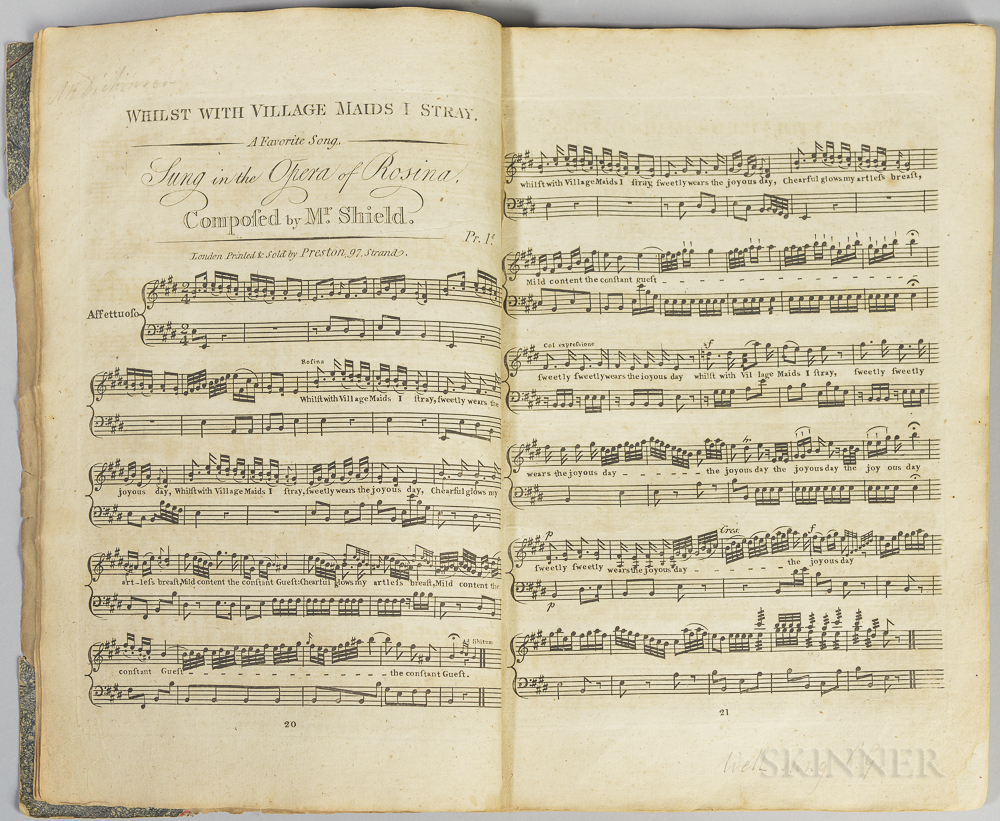 Sheet Music Collection, London, c. 1800.