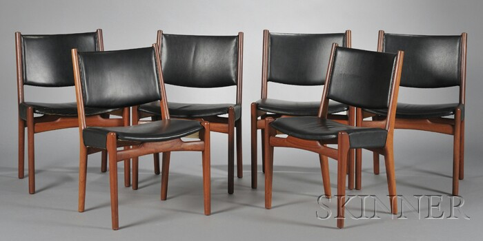 Six Hans Wegner Chairs