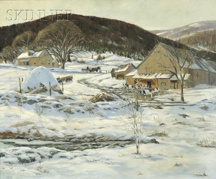 John William Bentley (American, 1880-1951)      Winter Homestead